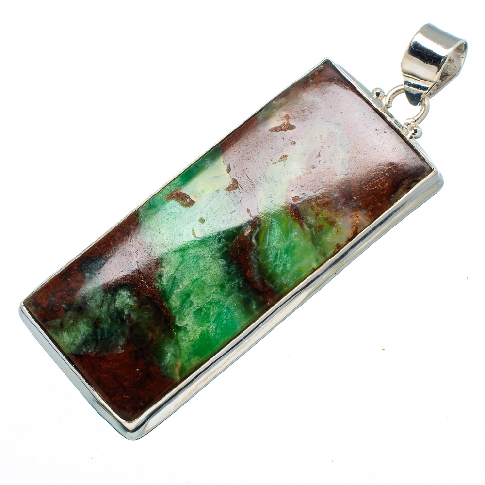 "Ana Silver Co Huge Boulder Chrysoprase Pendant 2 1 2"" (925 Sterling Silver) Handmade Jewelry PD607266 by Ana Silver Co."