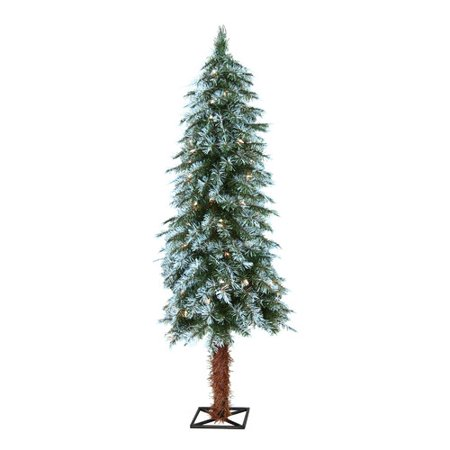 general foam plastics 4 frosted alpine christmas tree with 70 clear lights