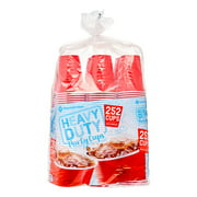Daily Chef Heavy Duty Plastic Cups, 18 Oz, Red, 252 Ct by WALMART
