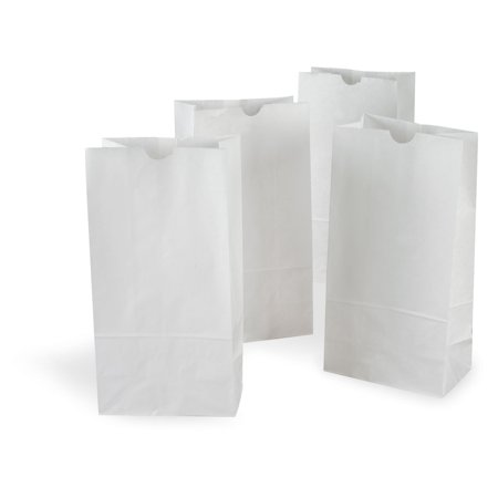 =500 Pack 4-Pound White Paper Bag - Bags Great for Crafts, Lunch Bags, Party Bags, Puppets, Coloring, Envelopes and more (5