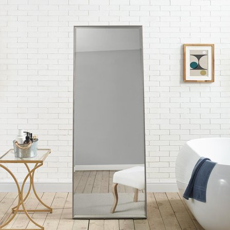 "Modern Floor Mirror Silver 66"" x 24"" by Naomi Home"