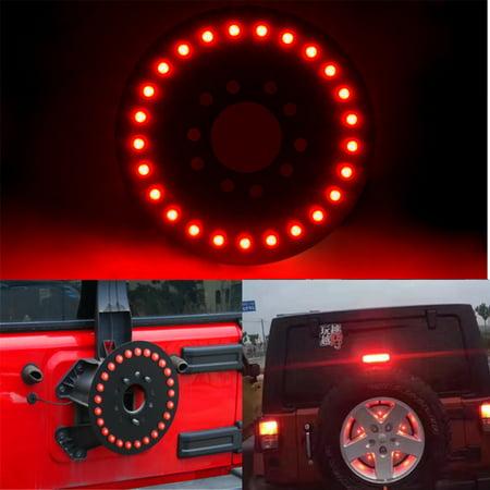 - Car Auto Spare Tire LED Wheel Lamp Rear 3rd Brake Decor Light For Jeep Wrangler JK TJ YJ