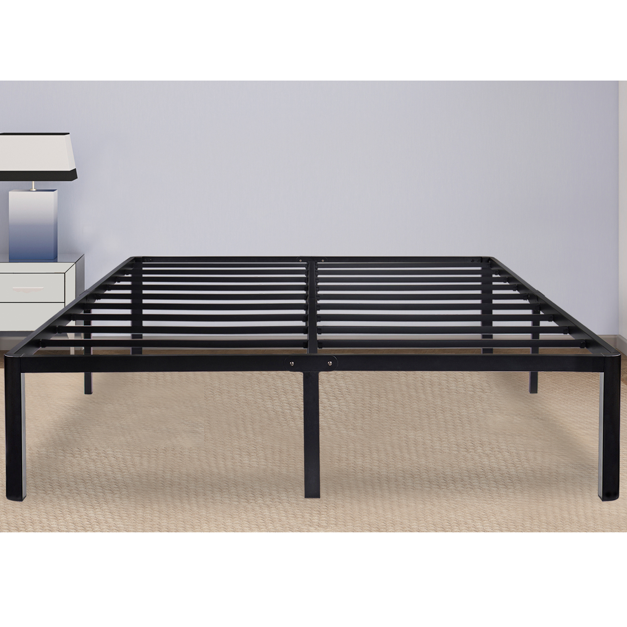 "GranRest 14"" Steel Slat Bed Frame - Queen"