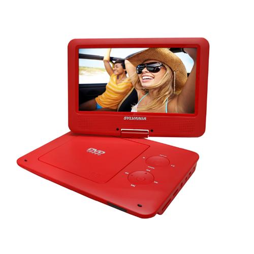 Sylvania SDVD9020-C-RED 9-Inch Swivel Screen Portable DVD/CD/MP3 Player - Manufacturer Refurbished