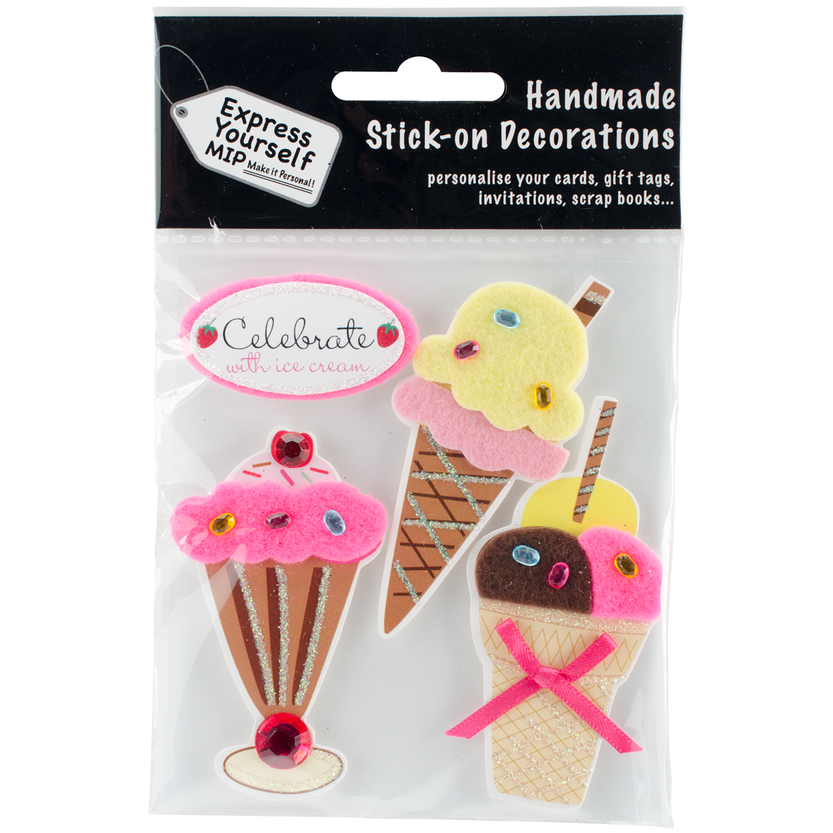 Express Yourself MIP 3D Stickers-Ice Creams