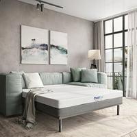 Modern Sleep Cool Gel Memory Foam Replacement Sofa Bed 4.5-Inch Mattress, Multiple Sizes