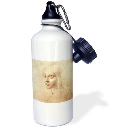 3dRose Drawing of the Face of the Angel, Sports Water Bottle, 21oz