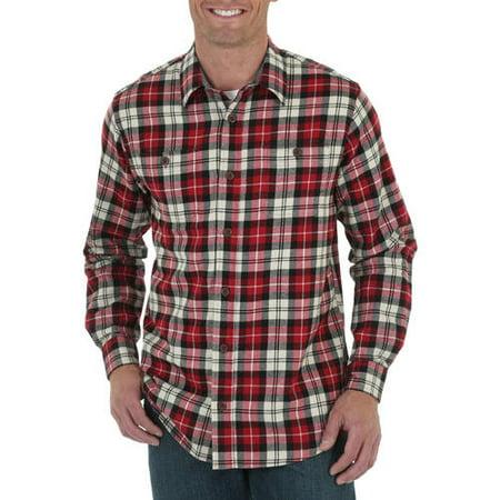 Mens Long Sleeve Classic Flannel Shirt