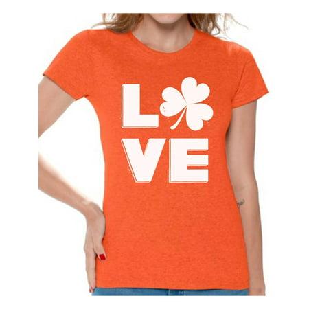 f40ad347 Awkward Styles Love Shamrock Shirt Womens St Patricks Day Shirts Gifts for Irish  St Patricks Gift for Her Proud Irish Women Shirt Irish Shamrock Tshirt ...