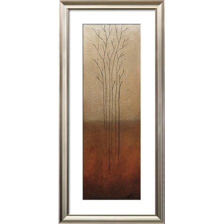 - Branch Rouge I Framed Art Print Wall Art  By Eve - 21x45
