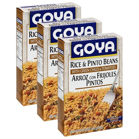 (3 Pack) Goya Rice & Pinto Beans with Green Chiles & Tomatoes, 8 oz
