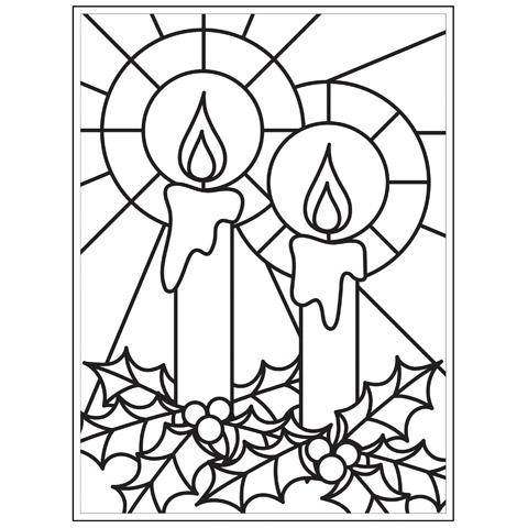 Embossing Folder Mosiac Candles 4.25X5.75 By Darice