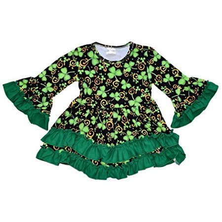 Unique Baby Girls St Patrick's Day Luck of the Irish Dress (4T/M, Green) - St Patricks Day Dresses