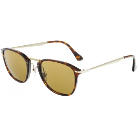 7db6e393c6055 Persol - Persol PO3165S-24 57-50 Brown Rectangle Sunglasses - Walmart.com