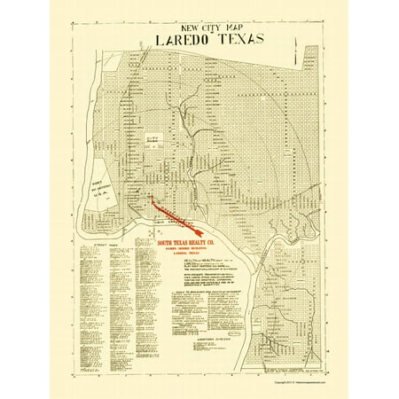 Map Of Texas During The Alamo.Old City Map Laredo Texas Alamo Blue Print 1930 23 X 30 71