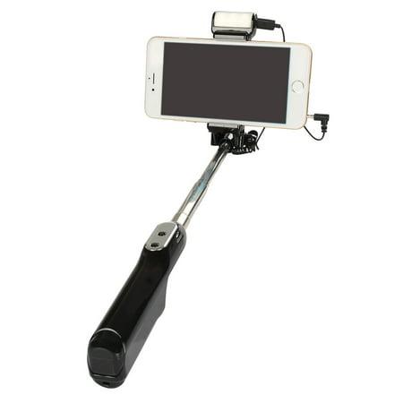 selfie stick with led light coastacloud wired selfie portrait monopod rear m. Black Bedroom Furniture Sets. Home Design Ideas