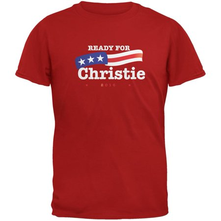 Election 2016 Ready for Christie Red Adult T-Shirt](Christie Halloween New Jersey)