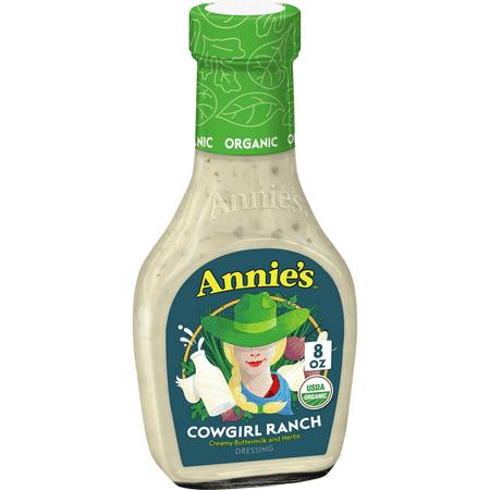 Annies Cowgirl Ranch Salad Dressing, Non-GMO, 8 fl oz