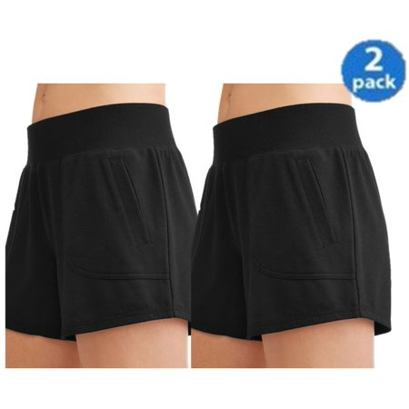 Athletic Works Womens Core Active Gym Short 2-Pack Bundle