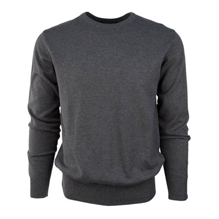 Marquis Men's Solid 100% Cotton Crew Neck Sweater, Available in Sizes