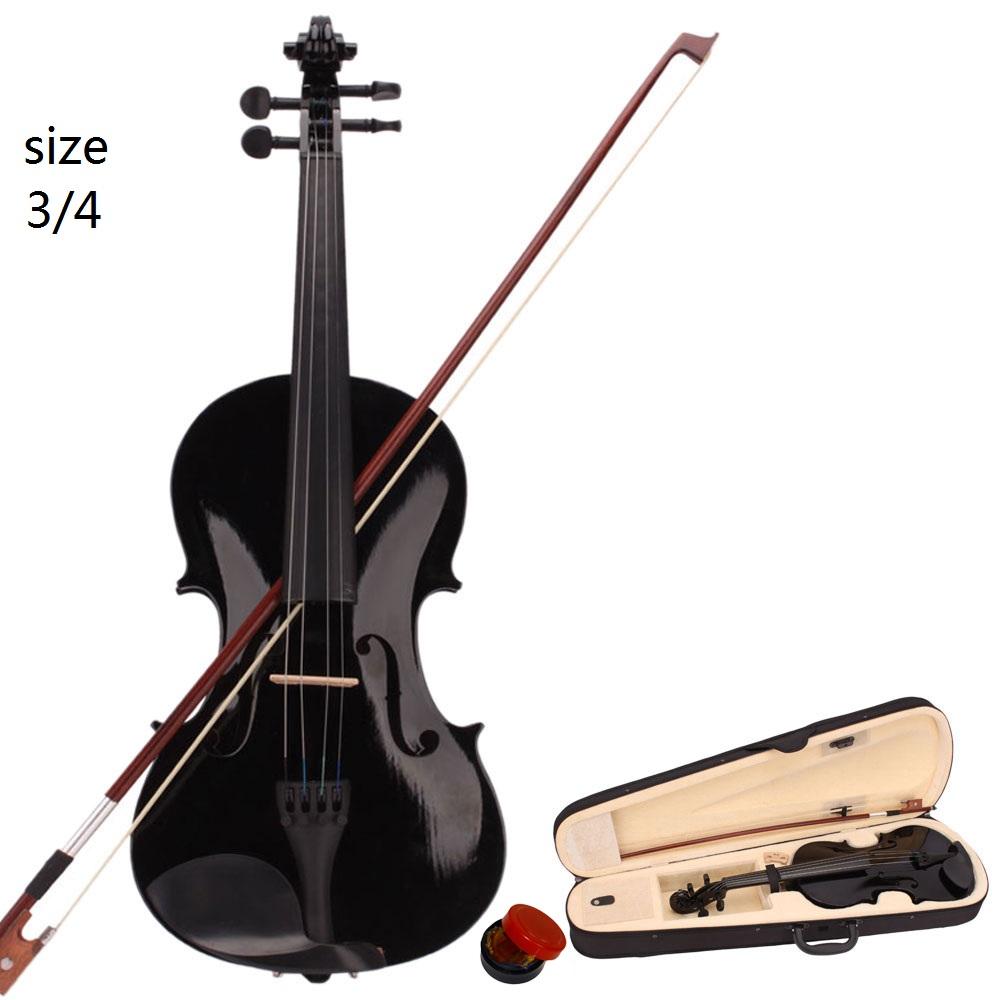 4Color 1//4 Size Instruments Acoustic Violin Set for Beginners Children