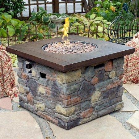 Red Ember Galiano Propane Fire Pit Table Walmartcom