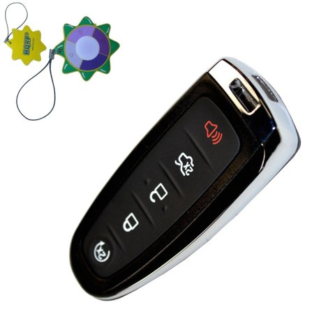 HQRP 5 Buttons Keyless Remote Case Shell Smart Prox Key for Ford C-Max 2015-2017; Edge, Explorer 2011-2015; Escape 2011-2017 plus HQRP UV Meter (Ford Explorer Case)