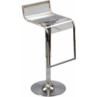 Modway LEM Acrylic Bar Stool with Steel Frame in Clear