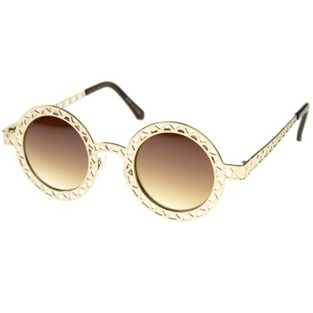 - MLC Eyewear Vintage Fashion Round Wired Frame Sunglasses S61NGW3173