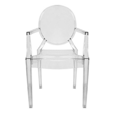 Dymas Modern Acrylic Armed Ghost Chair (Set of 2) Acrylic Ghost Chair Set