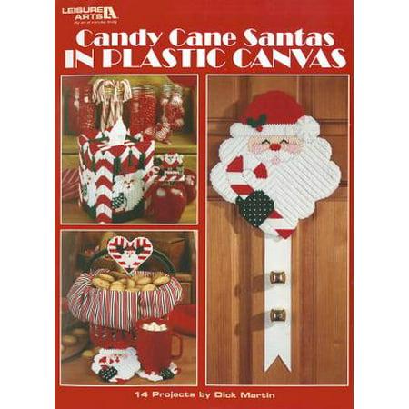 Candy Cane Santas in Plastic - Plastic Santa