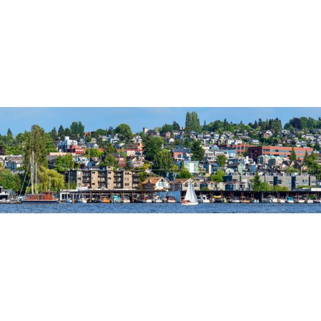 Motorboats along Lake Union Seattle King County Washington State USA Poster Print by Panoramic