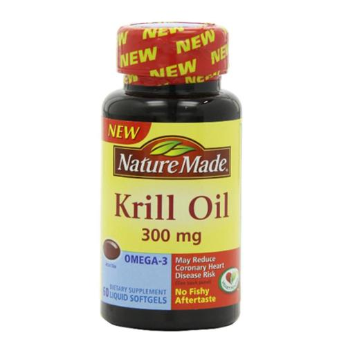 Nature Made Krill Oil 300 mg Liquid Softgels 60 ea (Pack of 3)
