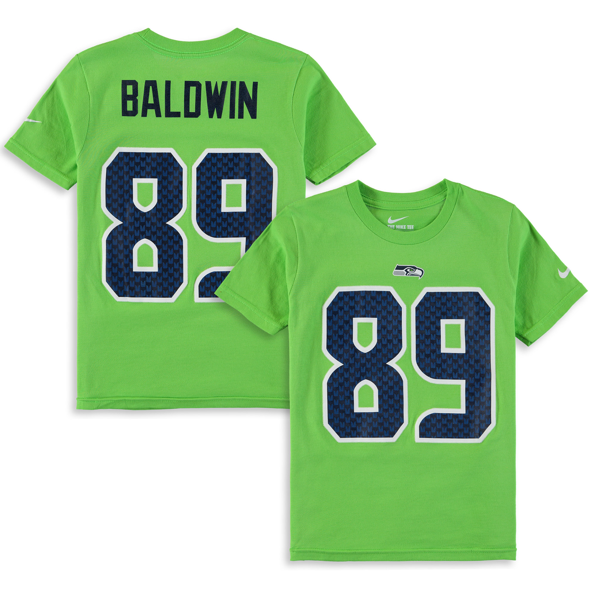 3589a0df93d Doug Baldwin Seattle Seahawks Nike Youth Color Rush Player Pride Name    Number T-Shirt - Neon Green