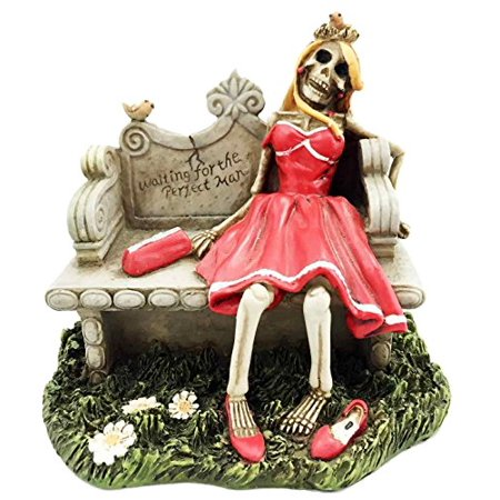 Waiting For The Perfect Man Figurine Prom Queen Skeleton Graveyard Daydream - Decorations For Prom
