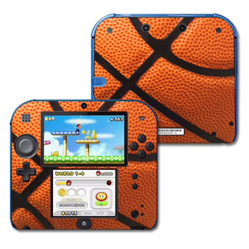 Mightyskins Protective Vinyl Skin Decal Cover for Nintendo 2DS wrap sticker skins Basketball