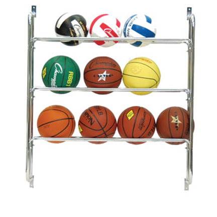 Champion Sports Wall Mount Ball Rack 3 Rows by Champion Sports