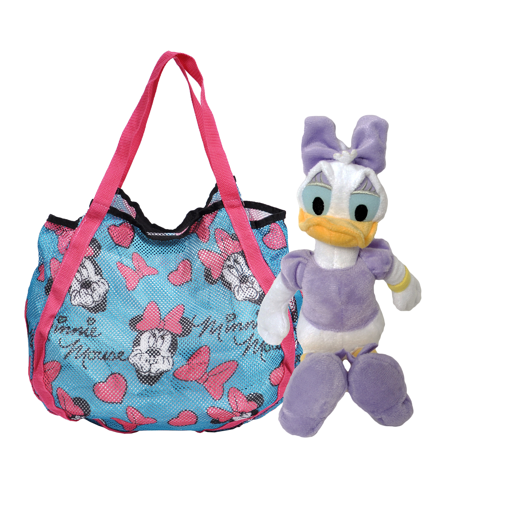 Minnie Mouse Shopping Tote Bag & Daisy Duck Plush Doll 11""