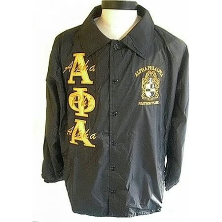 Alpha Phi Alpha Mens Crossing Line Jacket  Black   L