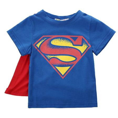 Summer Kid Boys Baby Superman Batman T-Shirt Short Sleeve Children Tee Costume