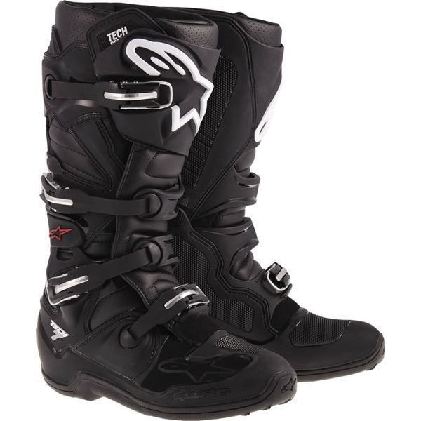 Alpinestars Tech 7 Mens MX Offroad Boots Black/White/Yellow