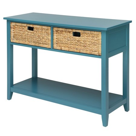 Urban Designs Console Table With Two Basket-like Front Drawers - (Optional Front Overhead Console)