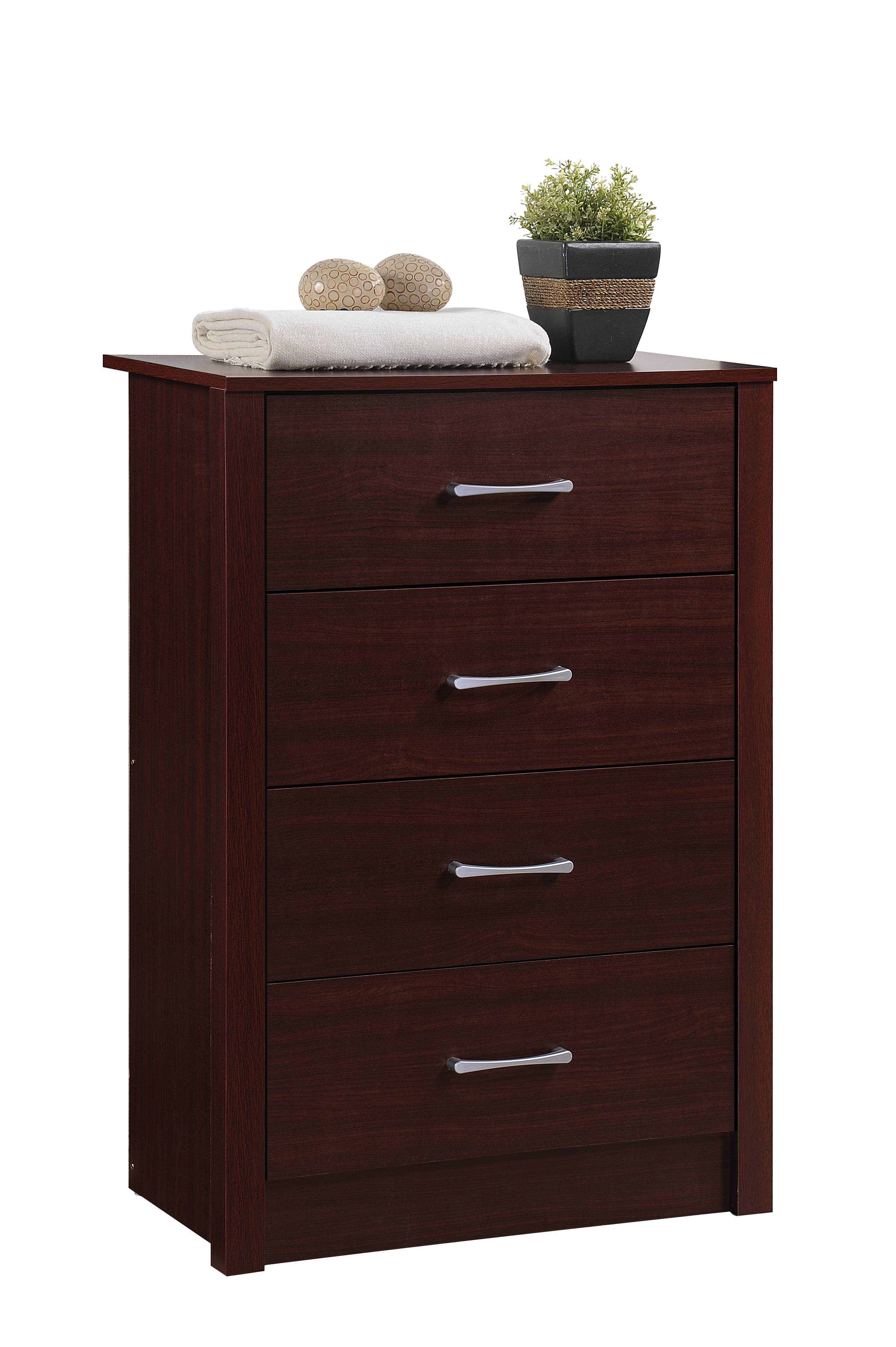 Mahogany Bedroom Dresser 4 Four Drawer