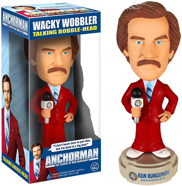 Funko Anchorman Wacky Wobbler Ron Burgundy Bobble Head