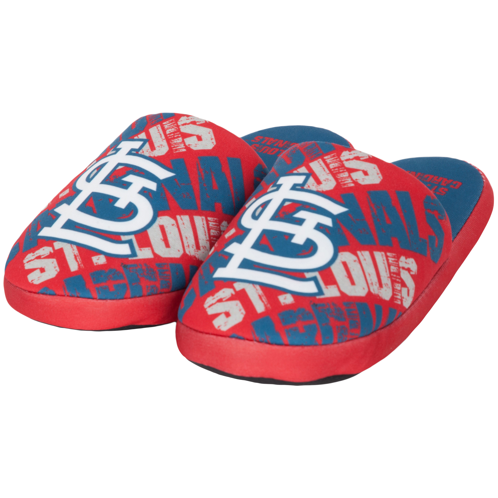 St. Louis Cardinals Youth Wordmark Printed Slippers - Red