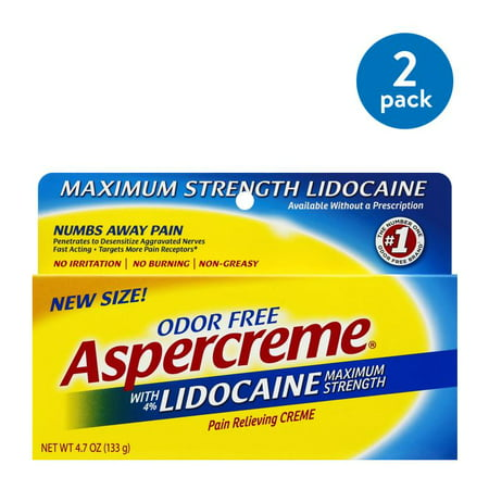 (2 Pack) Aspercreme Odor Free Pain Relieving Creme, 4.7 (Best Over The Counter Pain Medicine)
