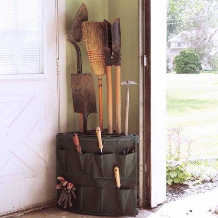 Stalwart Corner Storage Tool Rack Tower with Removable Storage Bag ()