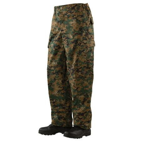 Tru-Spec BDU Pants with Cell Phone Pocket - WOODLAND DIGITAL - Medium/Regular (Bdu Uniform Pants)