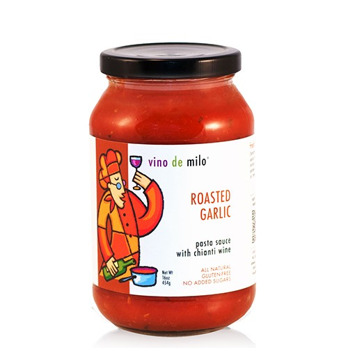 Vino de Milo No Sugar Added Pasta Sauce (16 oz) - Roasted Garlic Chianti