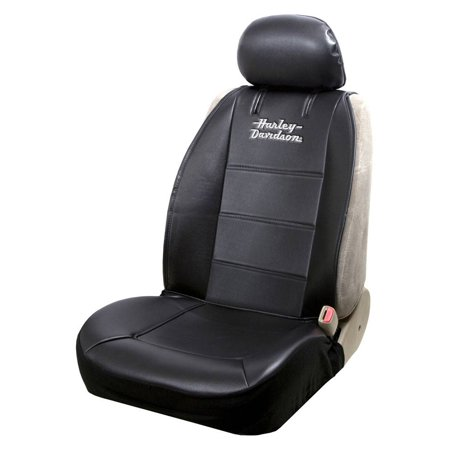 Harley-Davidson Stacked Logo Universal Sideless Seat Cover, Black – Single 8615, Harley - Harley Davidson Car Accessories